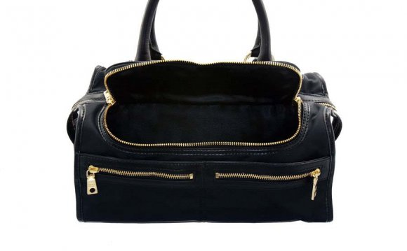 DKNY Nylon Zipper Satchel in