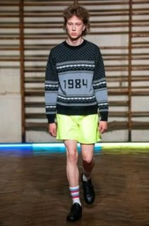 At the Gosha Rubchinskiy show at Paris fashion week SS2016.