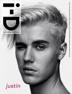 Justin Bieber's winter 2015 i-D magazine cover.