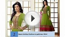 Latest Frocks Fashion Trends Designs 2014 in Pakistan and